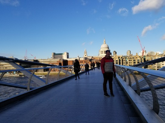 The bridge destroyed by Death Eaters in Harry Potter